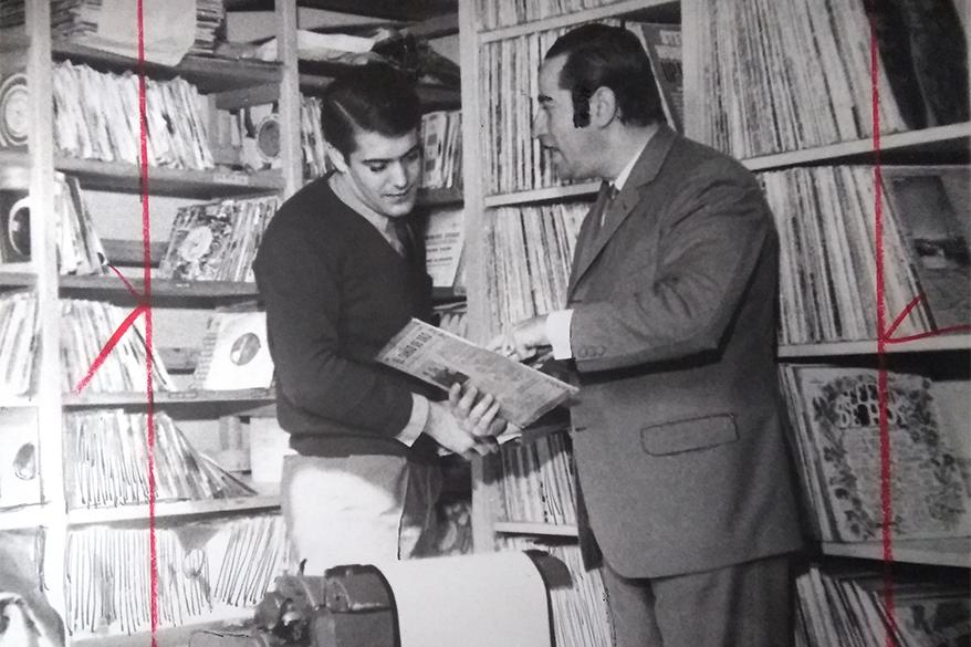 1968 - Discoteca de Radio Excelsior, espacio vital de la radio