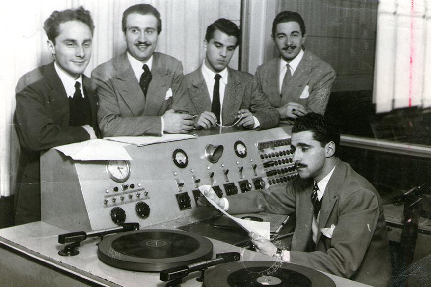 LR3 - Jorge Luz, Enrique Borrás, Luis Quadri, Alfredo Garayoa y el técnico Carlos Alberto Illiana