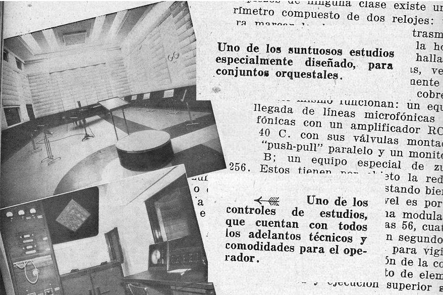 Estudios de la antigua LR1 Radio El Mundo - Álbum Radiotelefónico - 1936