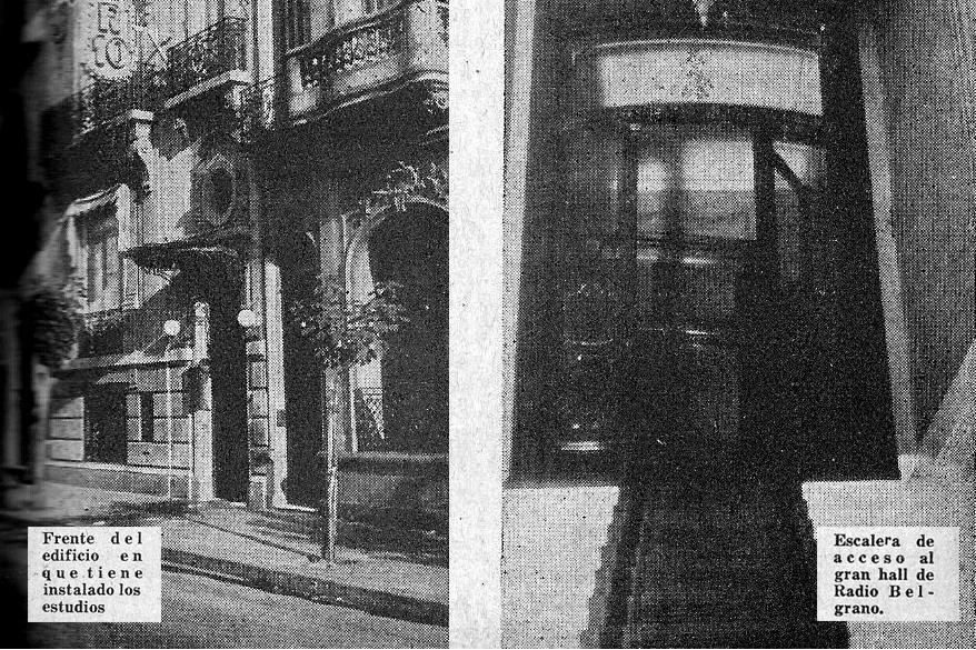 Edificio original de LR3 Radio Belgrano y LR10 Radio Prieto - Álbum Radiotelefónico 1936