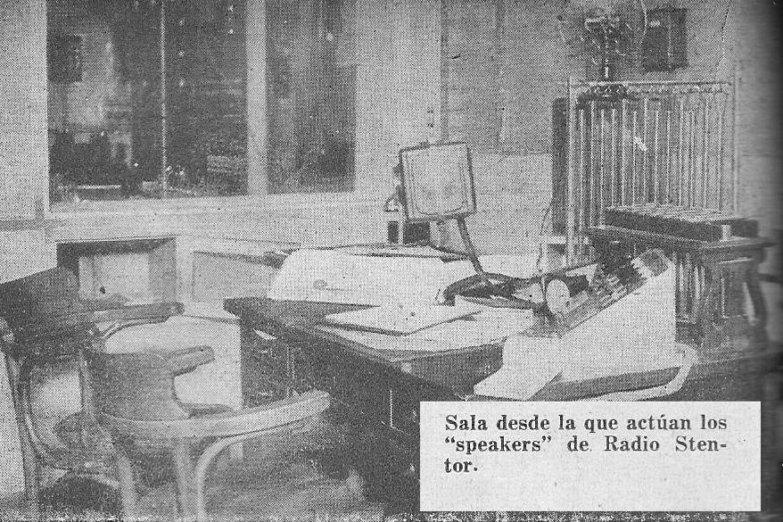 """LS8 Radio Stentor - """"Sala de Speakers"""" - 1936"""