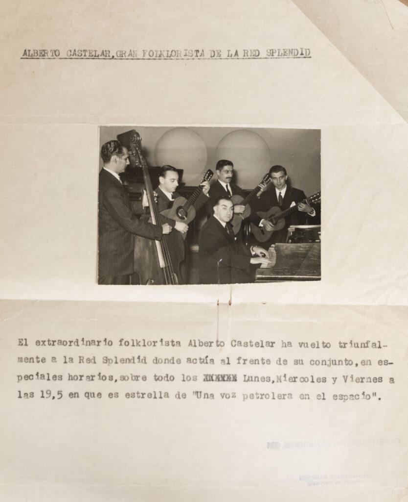 Conjunto folklórico de Alberto Castelar.