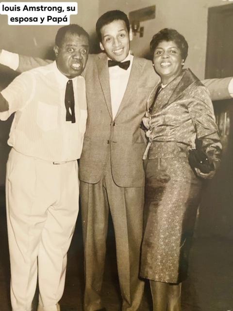 Hugo Guerrero Marthineitz con Louis Armstrong
