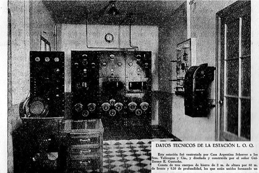 Datos técnicos de la Estación L.O.Q - Diseñada y construida por el Sr. Guillermo E. Guntsche